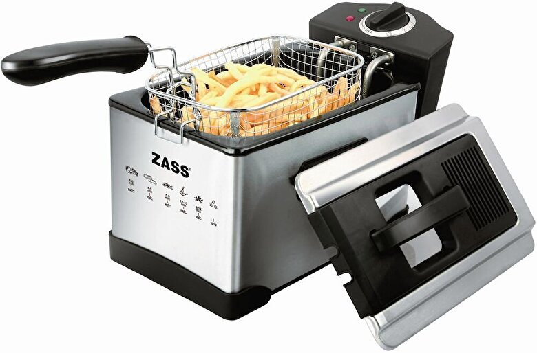 Zass - Friteuza Zass ZDF 04, 1400W, 2.5L, Inox - Negru