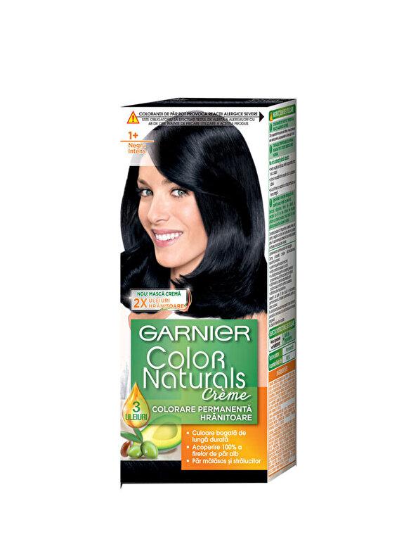 Garnier Color Naturals - Vopsea de par permanenta cu amoniac Color Naturals 1+ Negru Intens, 110 ml - Incolor