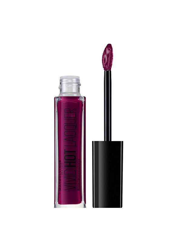 Maybelline NY - Ruj lichid Maybelline New York Color Sensational Vivid Hot Lacquer 76 Obsessed, 7.7 ml - Incolor