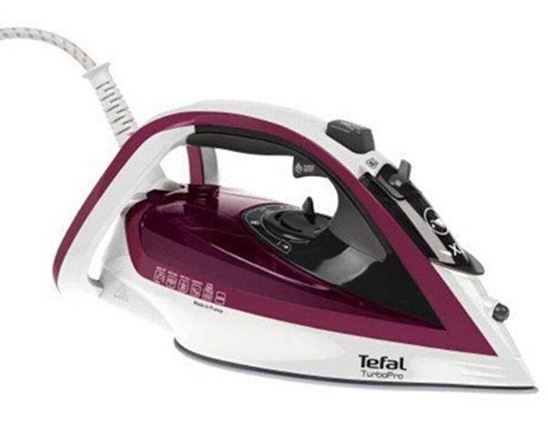 Tefal - Fier de calcat Tefal Turbo Pro FV5605E0, 2600 W, 190 g/min, 300 ml, alb - Mov