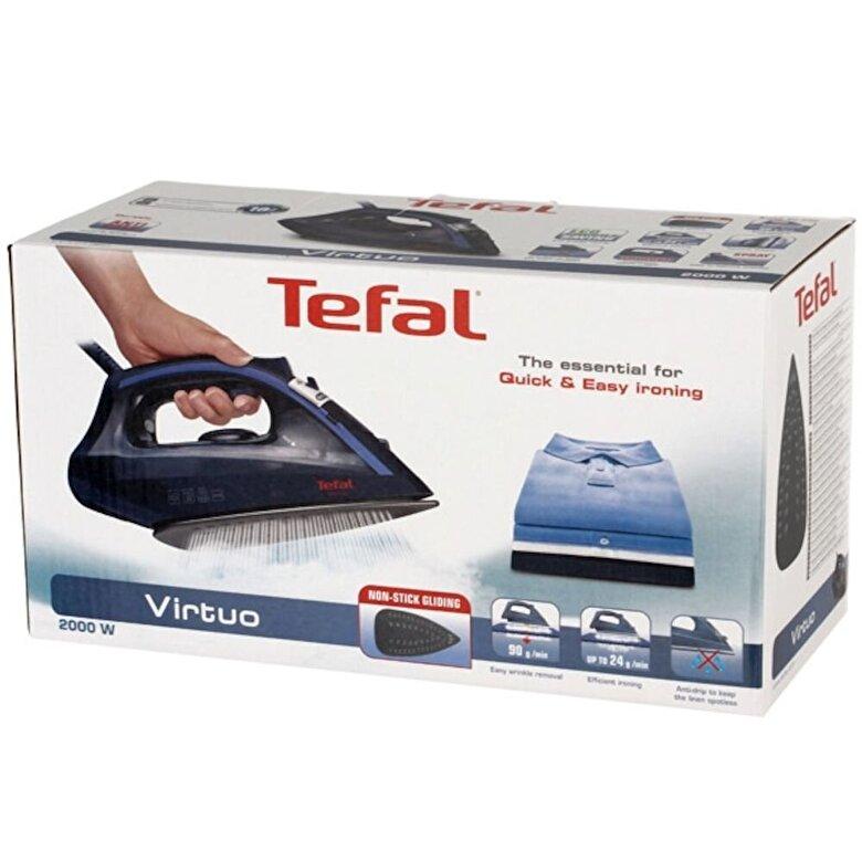 Tefal - Fier de calcat Tefal Virtuo FV1713E0, 2000 W, 90 g/min, albastru - Albastru