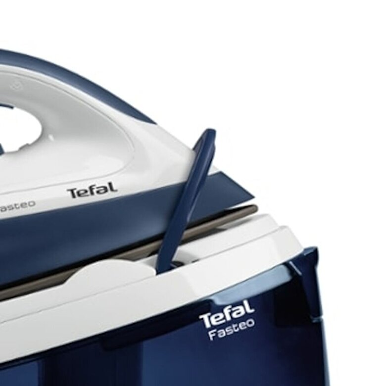 Tefal - Statie de calcat Tefal Fasteo SV6040E0, 2200 W, presiune abur 5,2 bar, 180 g/min, 1,2 L, bleumarin - Bleumarin