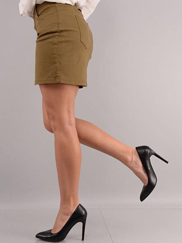 Mudo - Outlet - Fusta mini - Verde kaki deschis