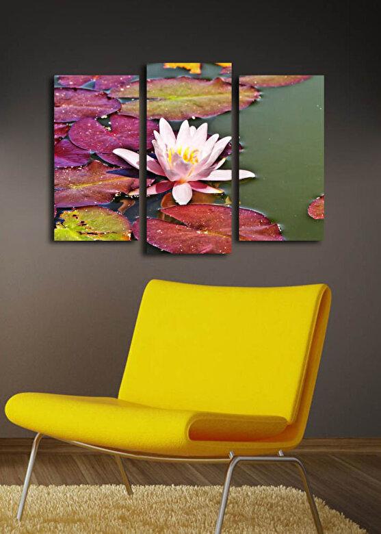 Horizon - Tablou decorativ pe panza Horizon, 237HRZ1285, 3 Piese, panza - Multicolor