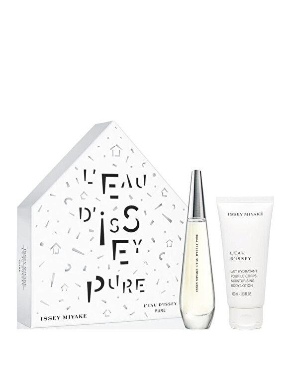 Issey Miyake - Set cadou L Eau D Issey Pure (Apa de parfum 50 ml + Lotiune de corp 100 ml), Pentru Femei - Incolor