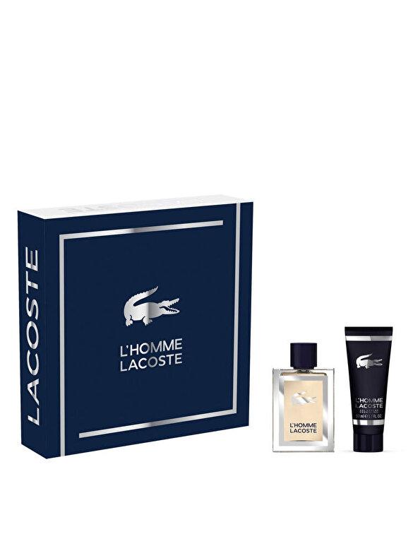 Lacoste - Set cadou L  Homme (Apa de toaleta 50ml + Gel de dus 50ml), Pentru Barbati - Incolor