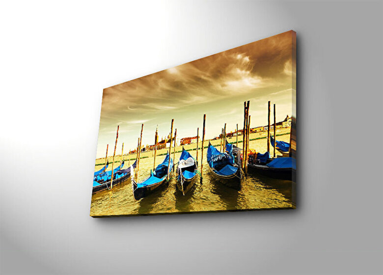 Horizon - Tablou decorativ pe panza Horizon, 237HRZ4202, 45 x 70 cm, panza - Multicolor