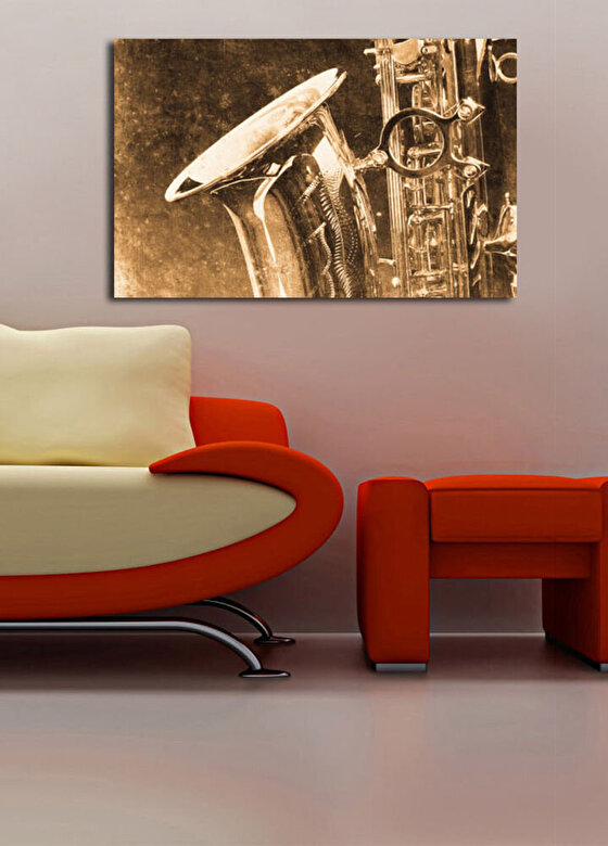 Horizon - Tablou decorativ pe panza Horizon, 237HRZ4214, 45 x 70 cm, panza - Multicolor