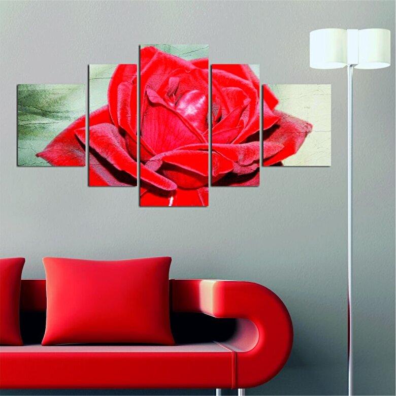 Allure - Tablou decorativ Multicanvas Allure, 221ALL1998, 5 Piese, MDF (Grosime: 4mm) - Multicolor
