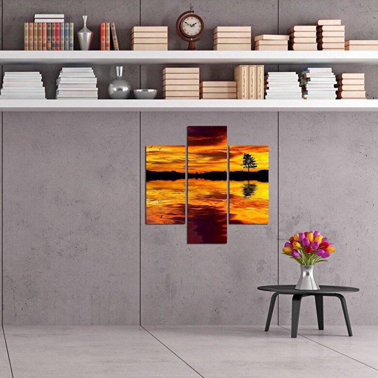 Three Art - Tablou decorativ Multicanvas Three Art, 251TRE1903, 3 Piese, MDF - Multicolor