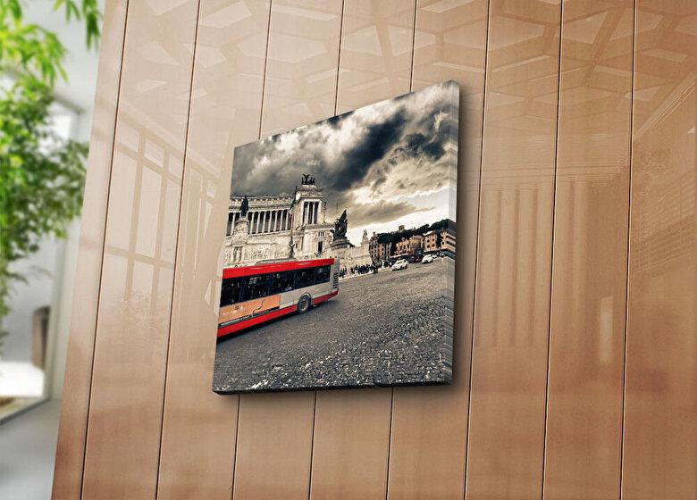Horizon - Tablou decorativ pe panza Horizon, 237HRZ1244, 45 x 45 cm, panza - Multicolor