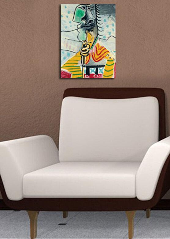 Horizon - Tablou decorativ pe panza Horizon, 237HRZ3205, 30 x 40 cm, panza - Multicolor