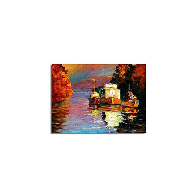 Horizon - Tablou decorativ pe panza Horizon, 237HRZ3224, 28 x 38 cm, panza - Multicolor