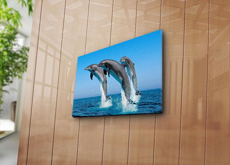 Horizon - Tablou decorativ pe panza Horizon, 237HRZ3231, 28 x 38 cm, panza - Multicolor