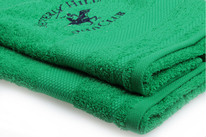 Beverly Hills - Set doua prosoape de baie, Beverly Hills Polo Club, bumbac, 40 x 60 cm, 50 x 100 cm, 355BHP1322 - Verde intens