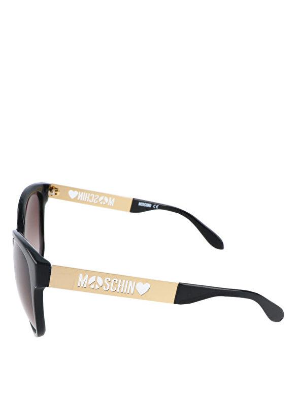 Moschino - Ochelari de soare Moschino MO802 01 - Negru-auriu