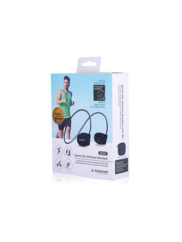 Avantree - Casti audio Bluetooth 4.1 EDR Avantree AS30, sweatproof IPX5, sport, multipoint, negre - Negru