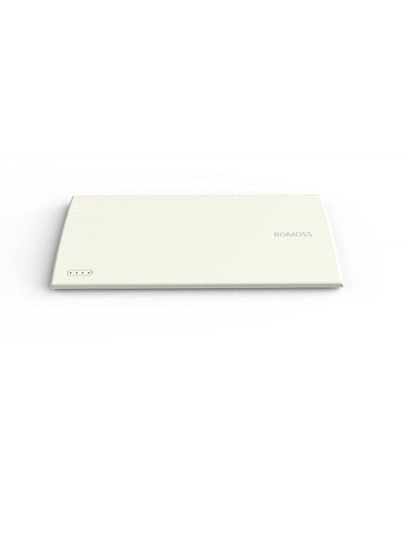 Romoss - Acumulator portabil ROMOSS, PG01-301-01, SKINNY, GROSIME 5.6 MM, 3000 MAH, DUAL USB, ALB - Alb