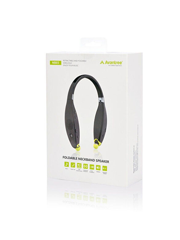 Avantree - Casti audio 2 in 1, in-ear & speaker Avantree, BTHS-NB03-BLK, Bluetooth 4.1, timp de redare pana la 32 ore, Negru/Galben - Negru