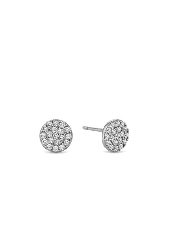 Diamond Style - Cercei Diamond Style HONEYCOMBSTUD - Argintiu