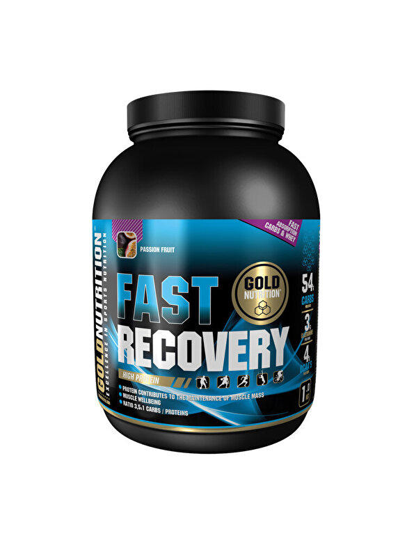 GoldNutrition - Pudra recovery, GoldNutrition, FAST RECOVERY FRUCTUL PASIUNII, 1 KG - Incolor