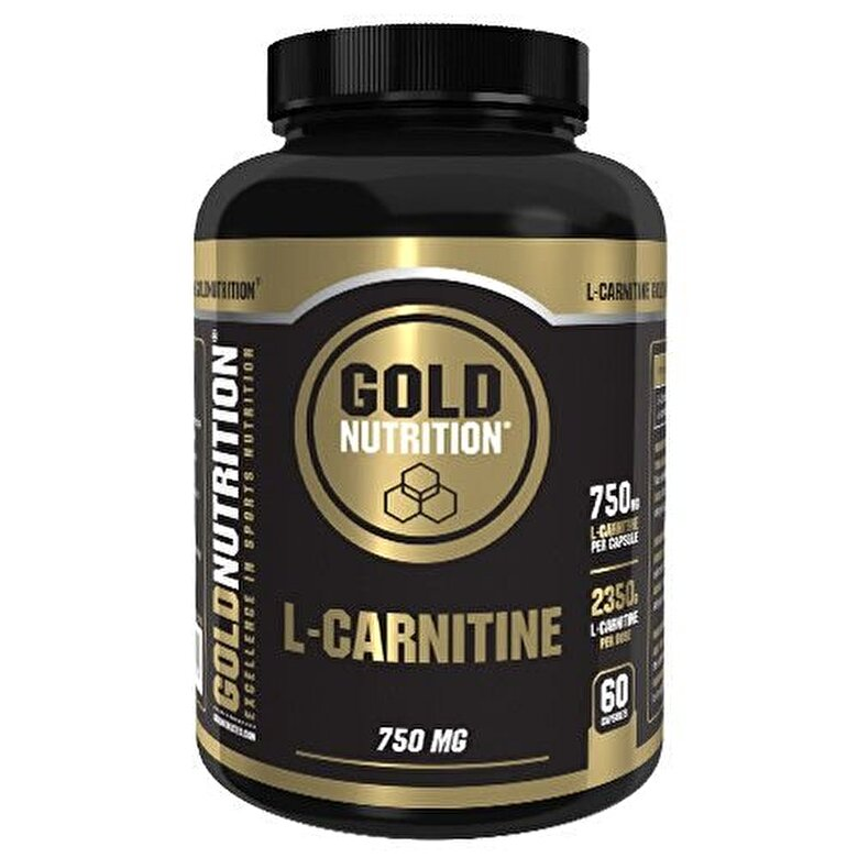 GoldNutrition - L-carnitina, GoldNutrition, L-CARNITINE 750 MG, 60 CPS - Incolor