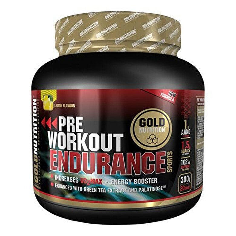 GoldNutrition - Pudra energizanta, GoldNutrition, PRE-WORKOUT ENDURANCE, 300 G - Incolor