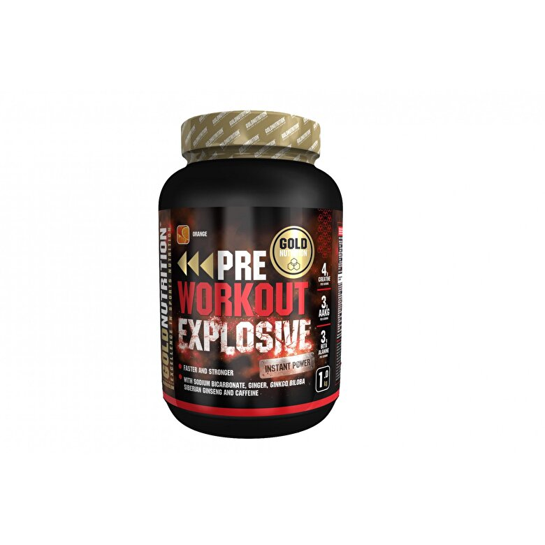 GoldNutrition - Pudra energizanta, GoldNutrition, PRE-WORKOUT EXPLOSIVE, 1 KG - Incolor
