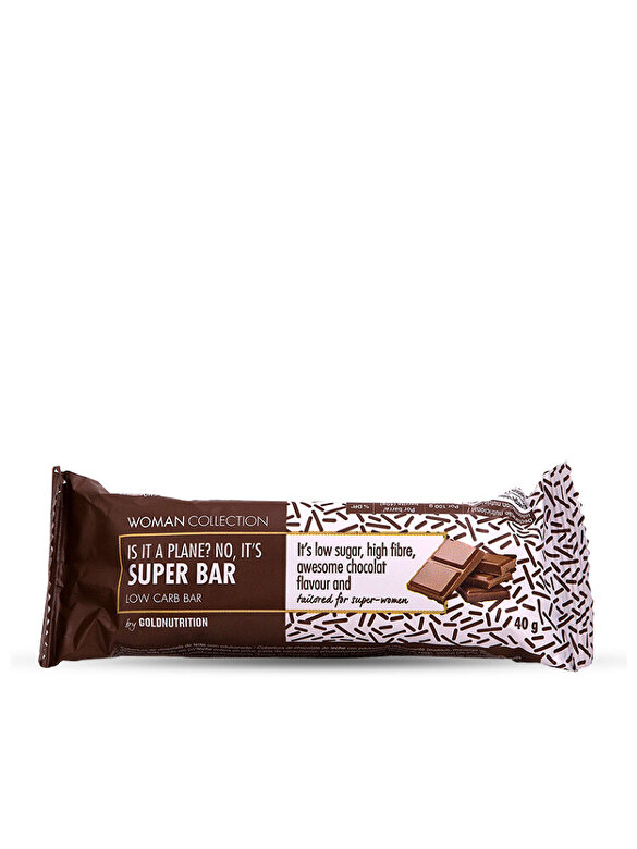 GoldNutrition - Woman Collection Super bar - Baton low carb ciocolata 40 g - Incolor