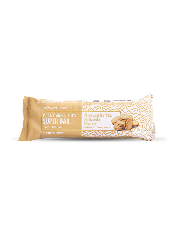GoldNutrition - Woman Collection Super bar - Baton low carb biscuiti 40 g - Incolor