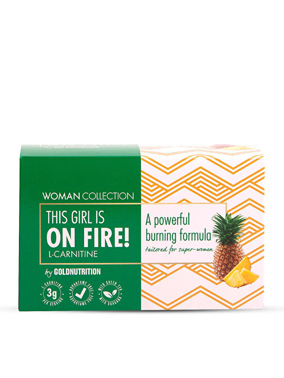 GoldNutrition - Woman Collection On Fire - L-carnitina Ananas 15 doze - Incolor