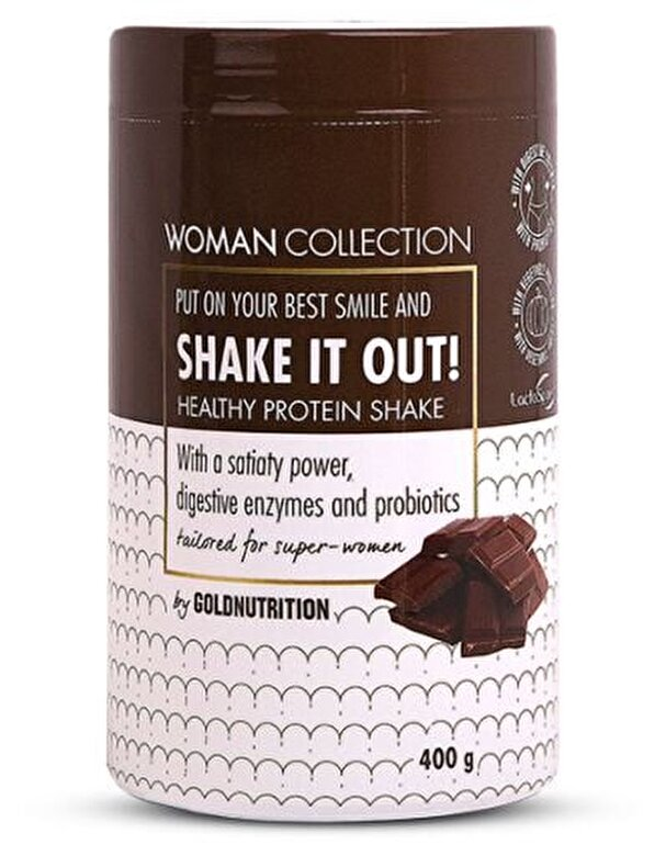 GoldNutrition - Woman Collection Shake It Out - Pudra proteica Ciocolata 400 g - Incolor