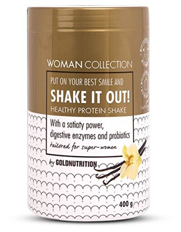 GoldNutrition - Woman Collection Shake It Out - Pudra proteica Vanilie 400 g - Incolor