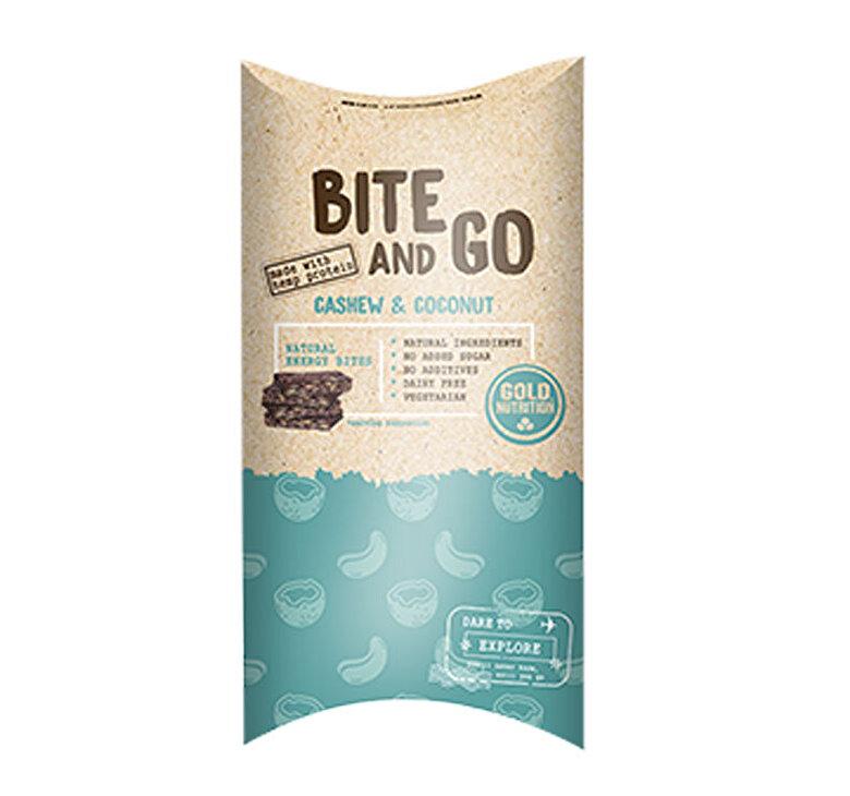 GoldNutrition - Gustare Bite And Go, GoldNutrition, Caju Si Cocos 40 x 10 g - Incolor