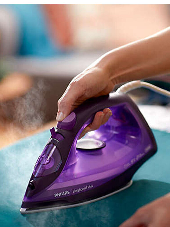 Philips - Fier de calcat cu abur, Philips, EasySpeed Plus, talpa ceramica, GC2148/30, Mov - Mov