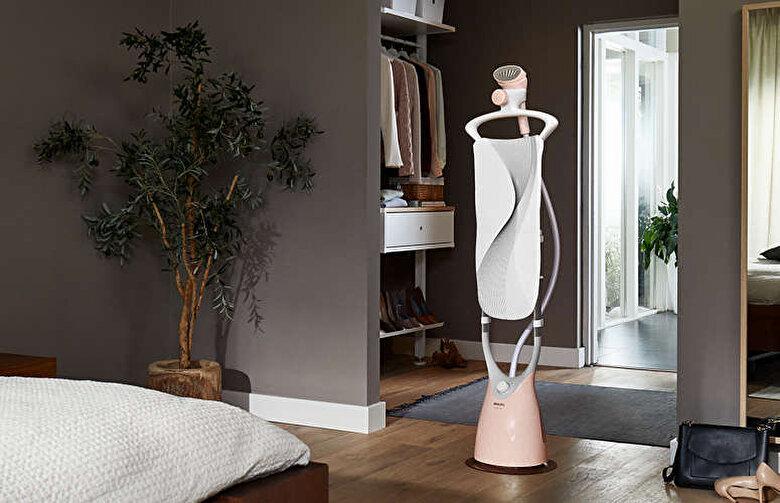 Philips - Aparat de calcat vertical cu abur, Philips, ComfortTouch, 1.8 l, 1800 W, 3 setari pentru abur, GC552/40, Roz - Roz