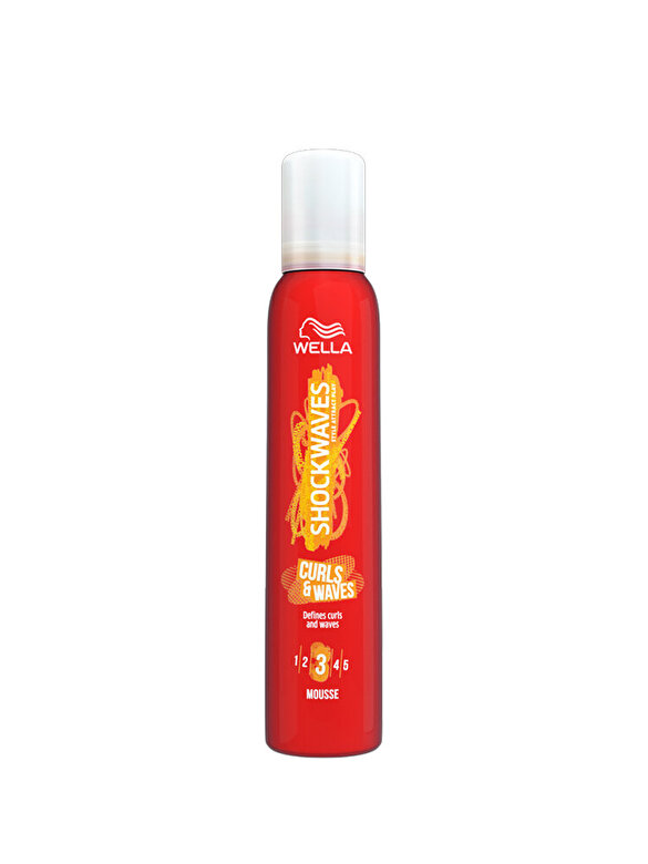 Wella - Spuma de par pentru definirea buclelor Wella SHOCKWAVES Curls & Waves, 200 ml - Incolor