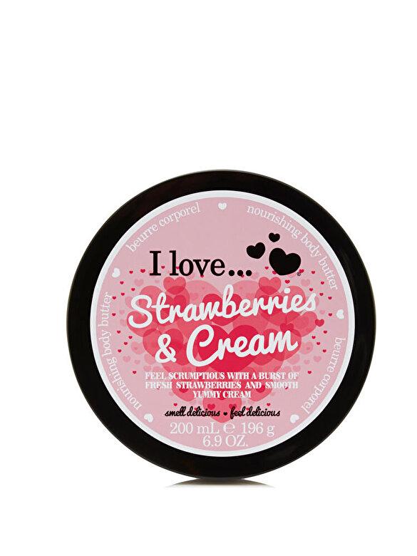 I love Cosmetics - Unt de corp I Love Strawberry&Cream, 200 ml - Incolor
