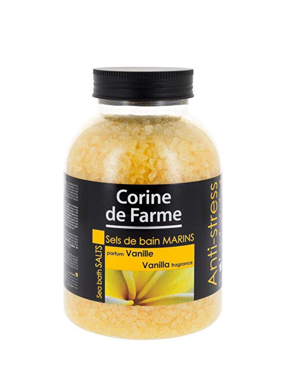 CORINE DE FARME - Sare de baie cu Vanilie, 1300 g - Incolor