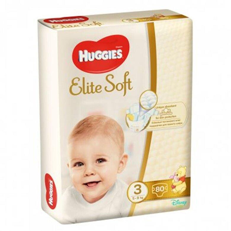 Huggies - Scutece Huggies elite soft (3) mega 80- (5-9kg) - Incolor
