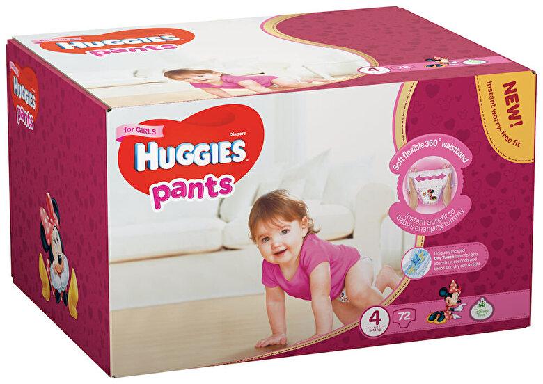 Huggies - Scutece-chilotel Huggies Box girl 4, 9-14kg, 72 buc - Multicolor