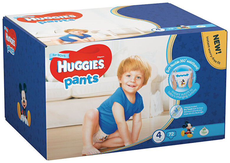 Huggies - Scutece-chilotel Huggies Box boy 4, 9-14kg, 72 buc - Multicolor