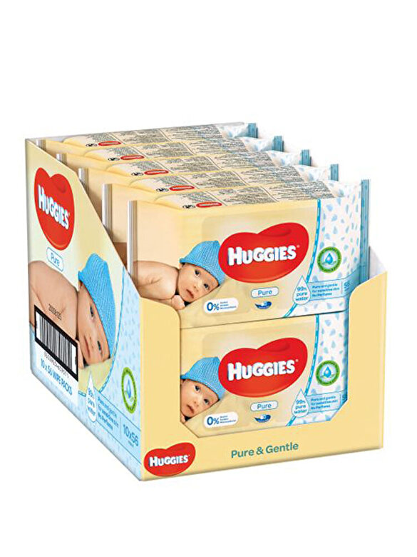 Huggies - Set 10 x Servetele umede Huggies pure, 56 buc - Multicolor