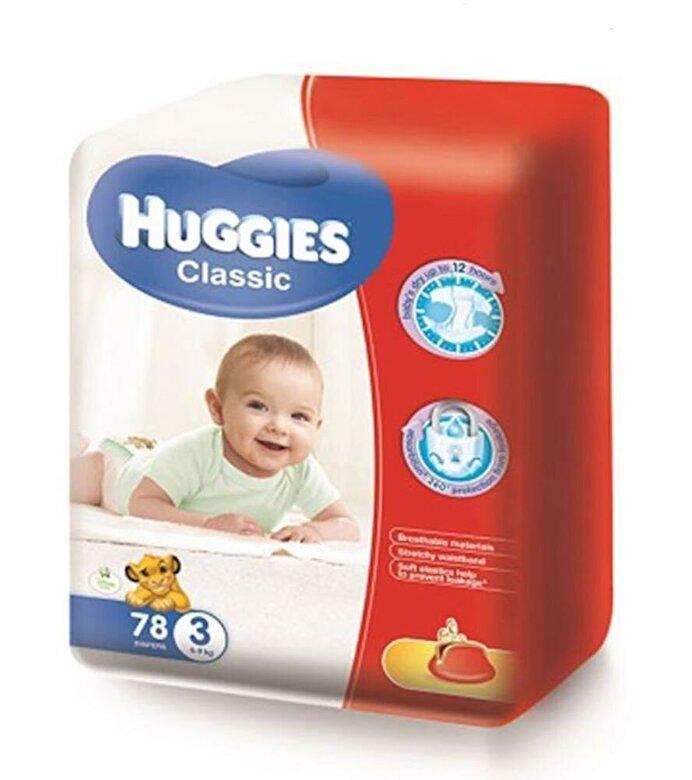 Huggies - Scutece Huggies Classic Mega 3, 4-9kg, 78 buc - Incolor
