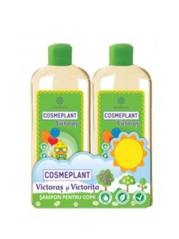 Victoras - Set cadou Cosmeplant Victoras (2 x Sampon copii hipoalergenic Cosmeplant Victoras 250ml) - Multicolor