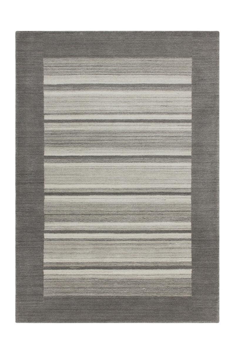 Covor Decorino Waling, modern & geometric, lana, C04-014209, 80 x 150 cm, Gri
