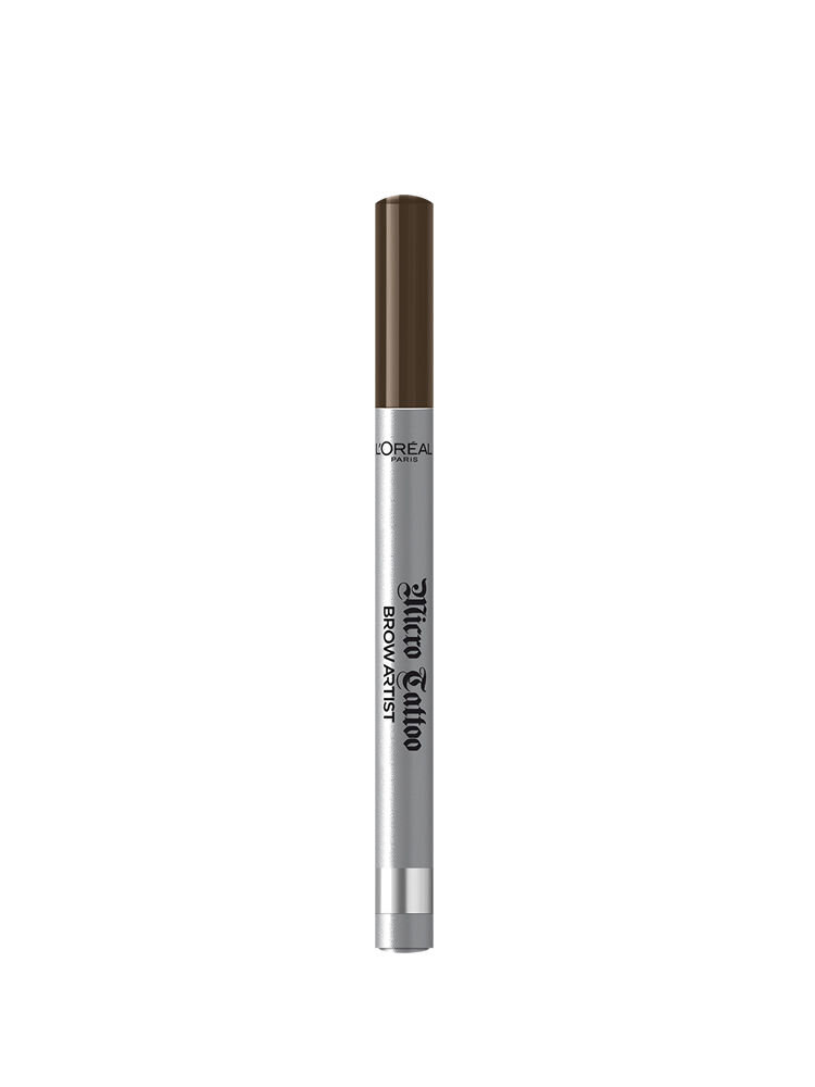 Creion de sprancene cu varf tip carioca L'Oreal Paris Brow Artist Micro Tattoo, 108 Warm Brunette, 5 g