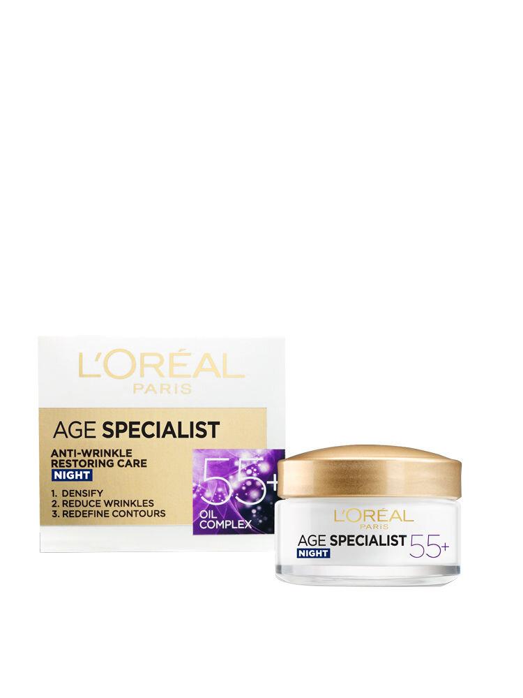 Crema antirid pentru fata L'Oreal Paris Age Specialist 55+ de noapte, 50 ml