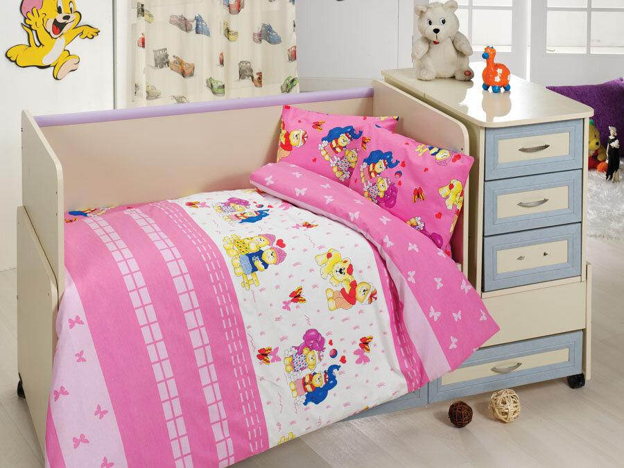 Lenjerie de pat pentru copii Bahar Class Home Collection material: 100% bumbac 110BHR2009 100 x 160 cm