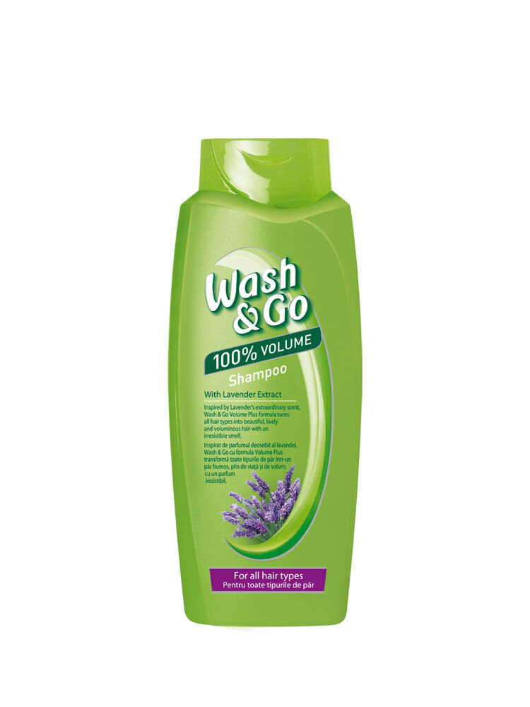 Sampon Wash&Go cu extract de levantica, pentru toate tipurile de par, 750 ml